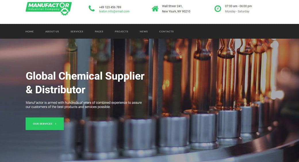 дизайн промышленного сайта химического завода