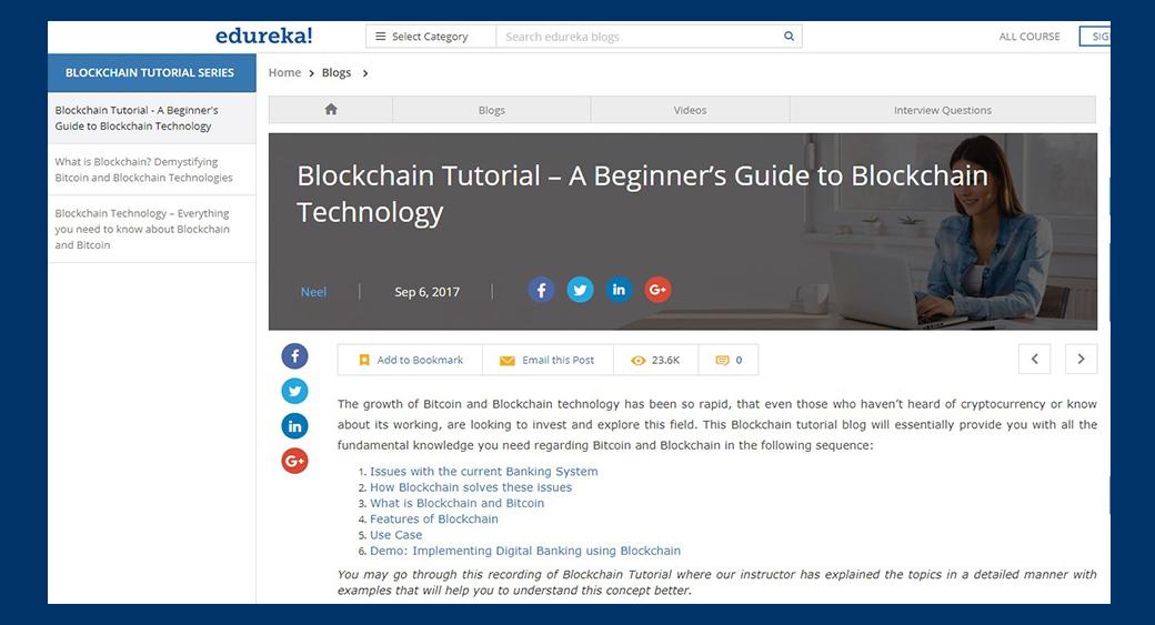 Blockchain Tutorial Series by Edureka