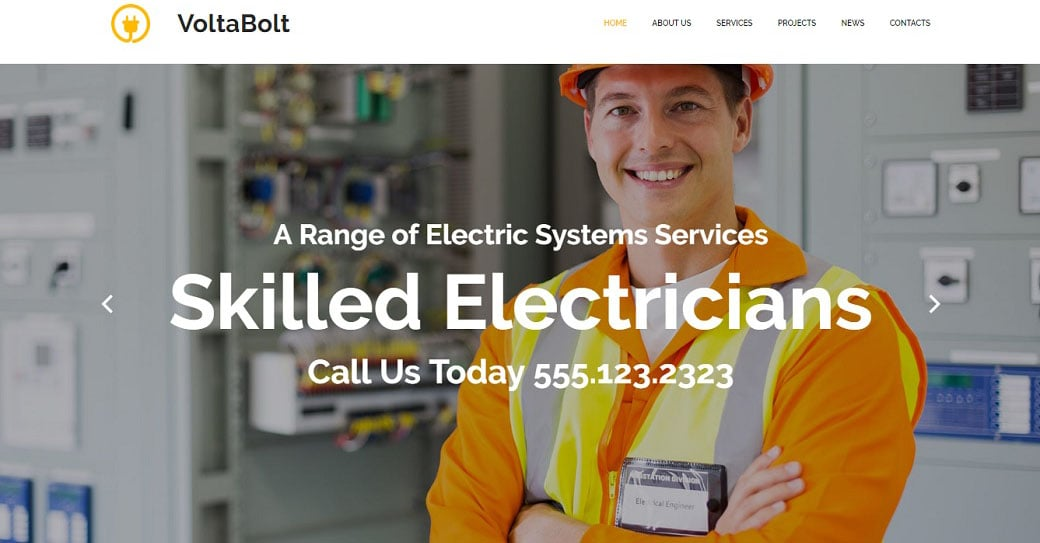 VoltaBolt Industrial Website Design
