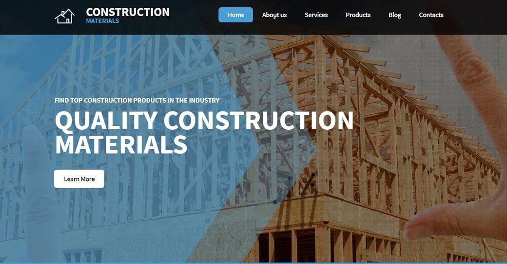 Construction Materials Manufacturing Website Design