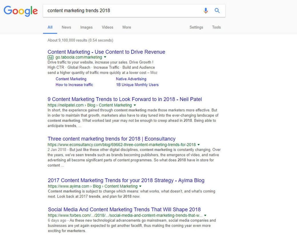 social media optimization Google trends image