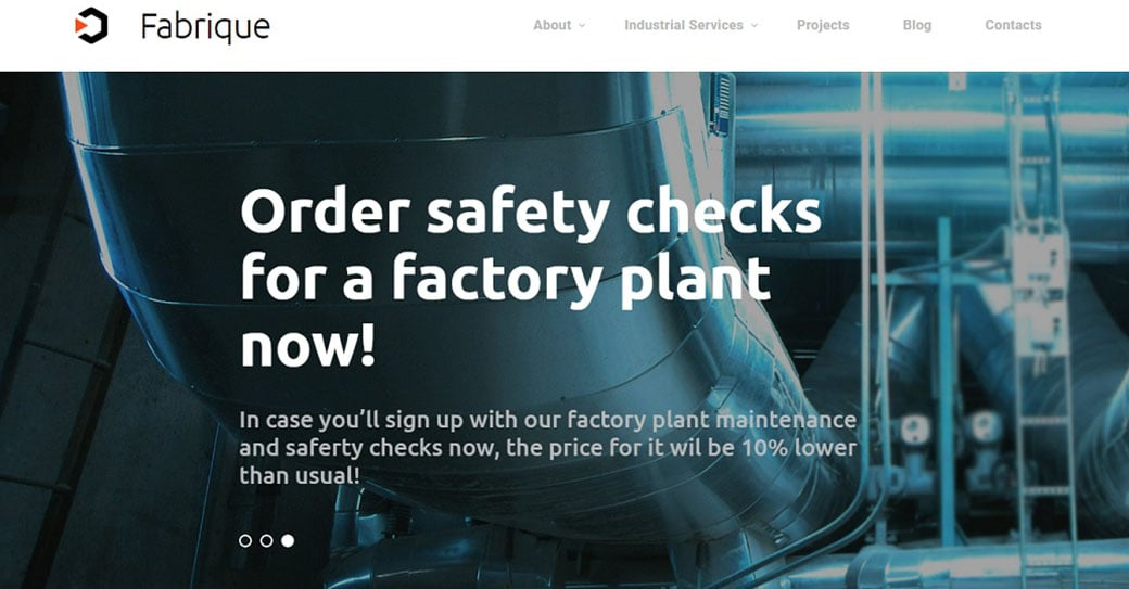 Fabrique Manufacturing Website Design