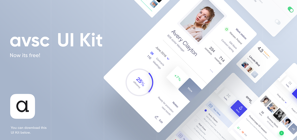 avsc Material Design UI Kit 2018
