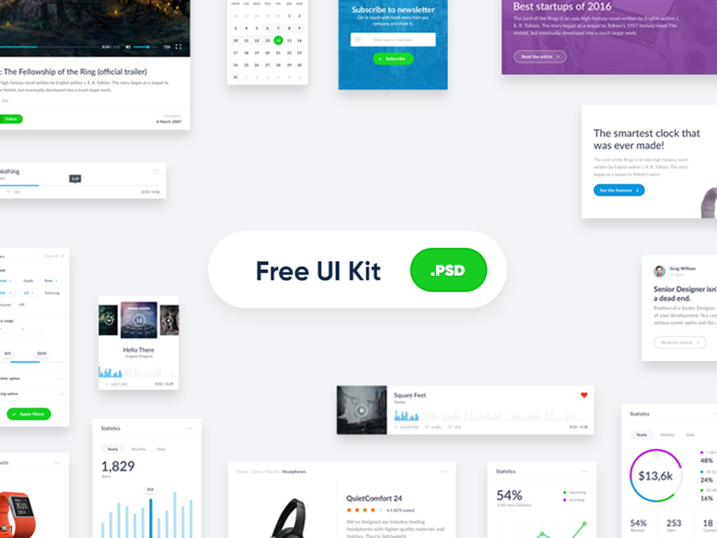 Free Material Design UI Kit 2018: Top 40+ Free Kits and Icon