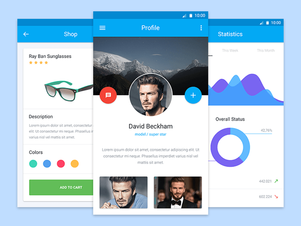 Free Material Design UI Kit 2018 by Adrian Goia