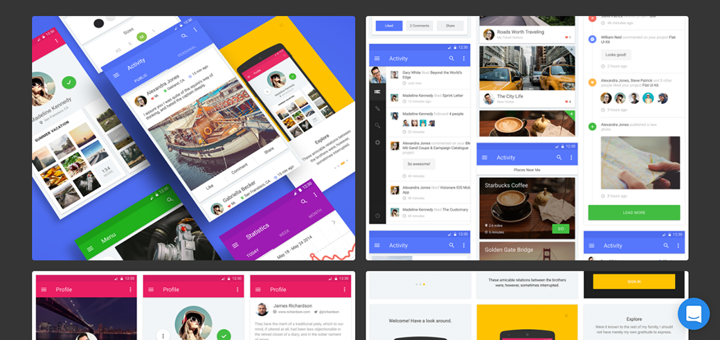 Free Material Design UI Kit 2018 for Mobile Applications