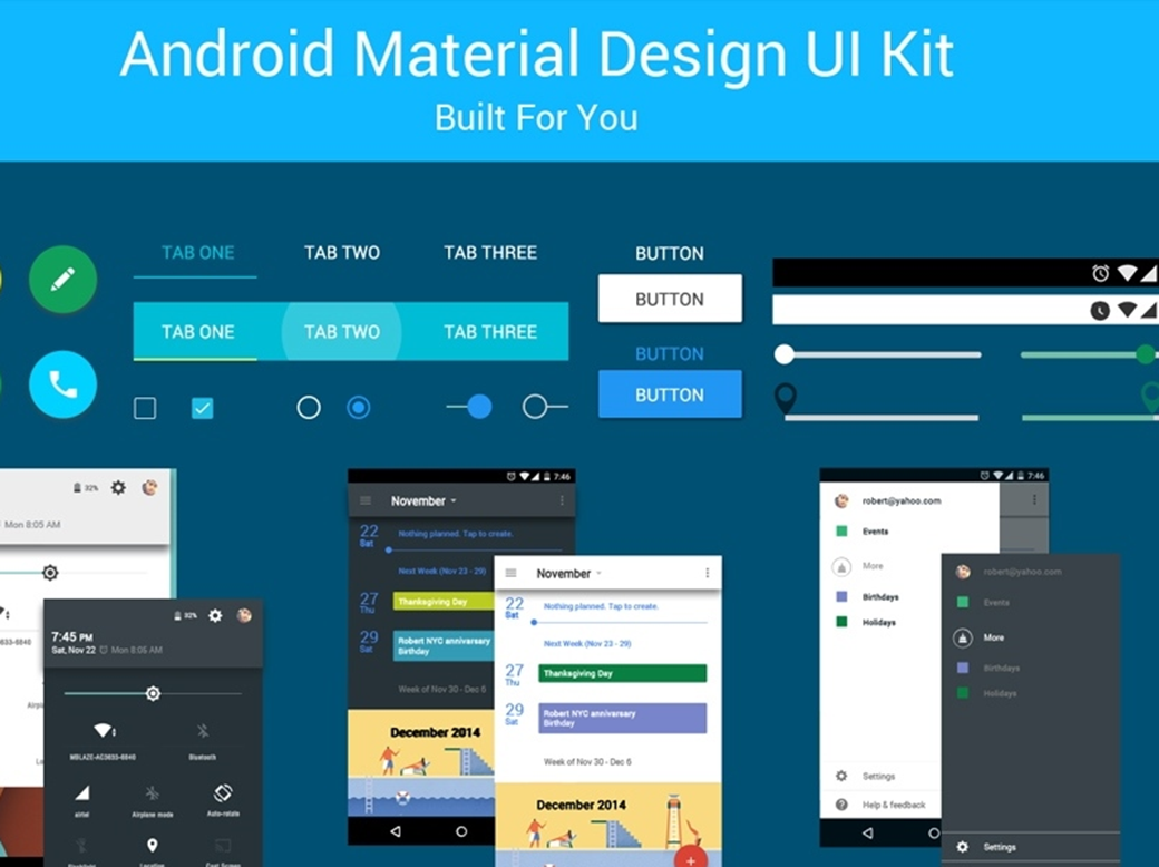 Free Material Design UI Kit 2018: Top 40+ Free Kits and Icon Sets
