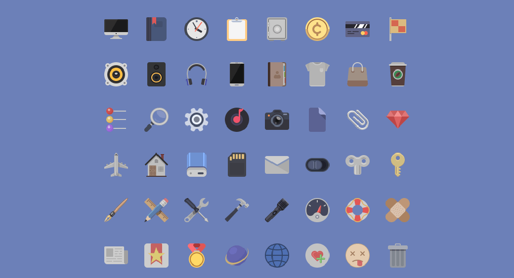 Free Material Design Icons PSD
