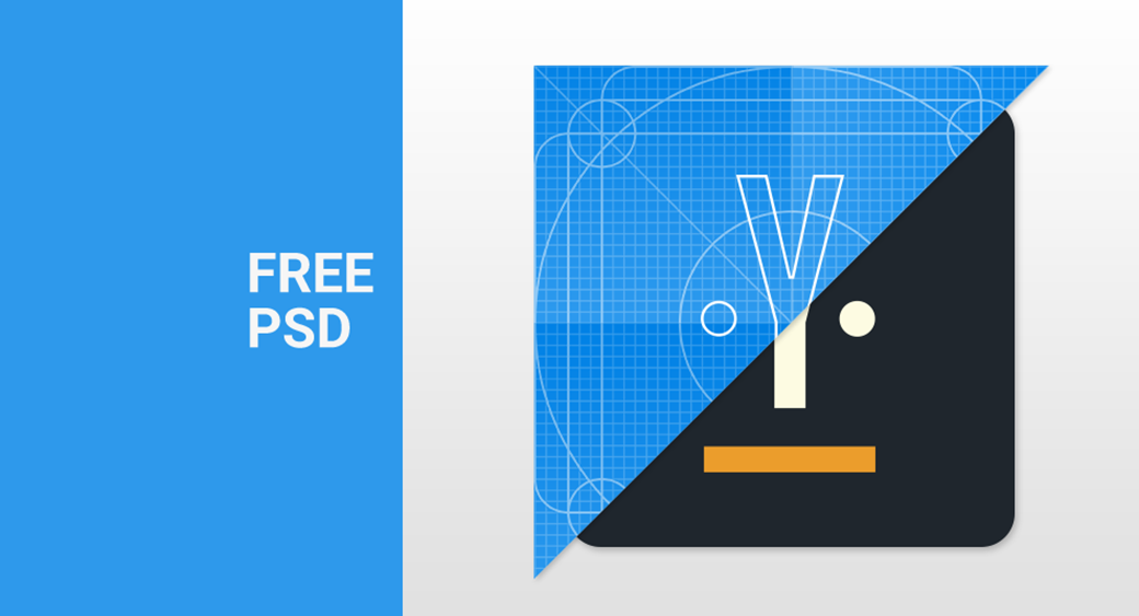 Free Material Design Icon Template PSD