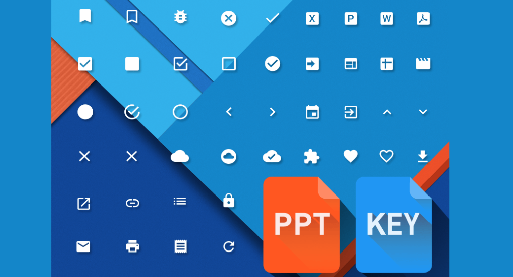 Free Material Design Powerpoint & Keynote icons