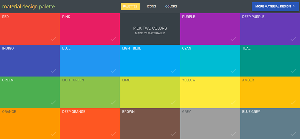 Free Material Design Palette Tool