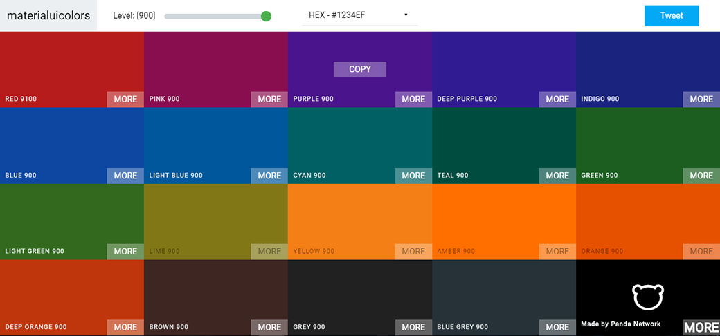 Free Material Design Color Palette