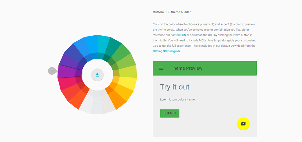Free Material Design Lite Color Picker