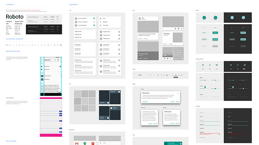 UI Sketch Material Design UI Kit 2018