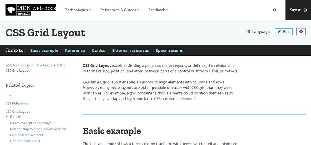 CSS Grid Layout Tutorial at MDN Web Docs image