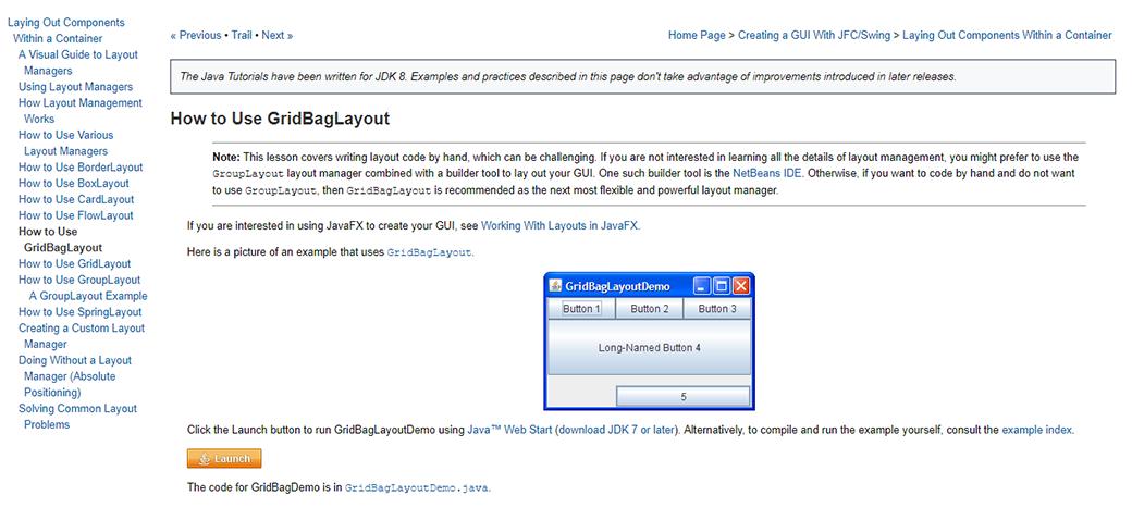 CSS Grid Layout Tutorial on GridBagLayout image