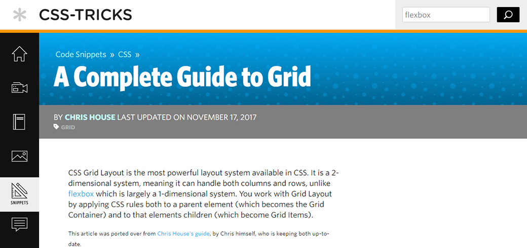CSS Grid Layout Tutorials And Guides by Chris House image