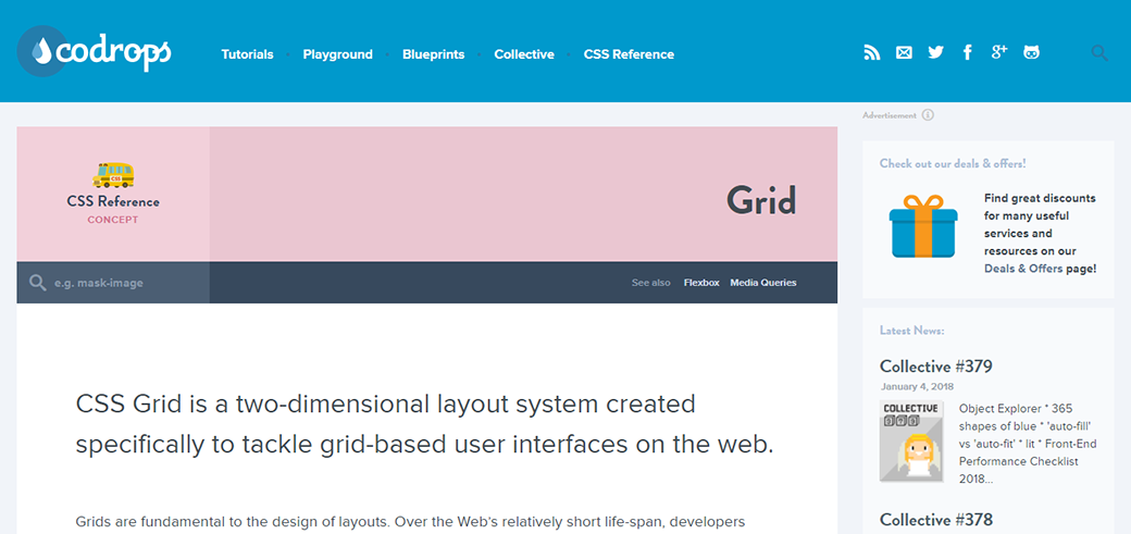 CSS Grid Layout Tutorial by CodeDrops image