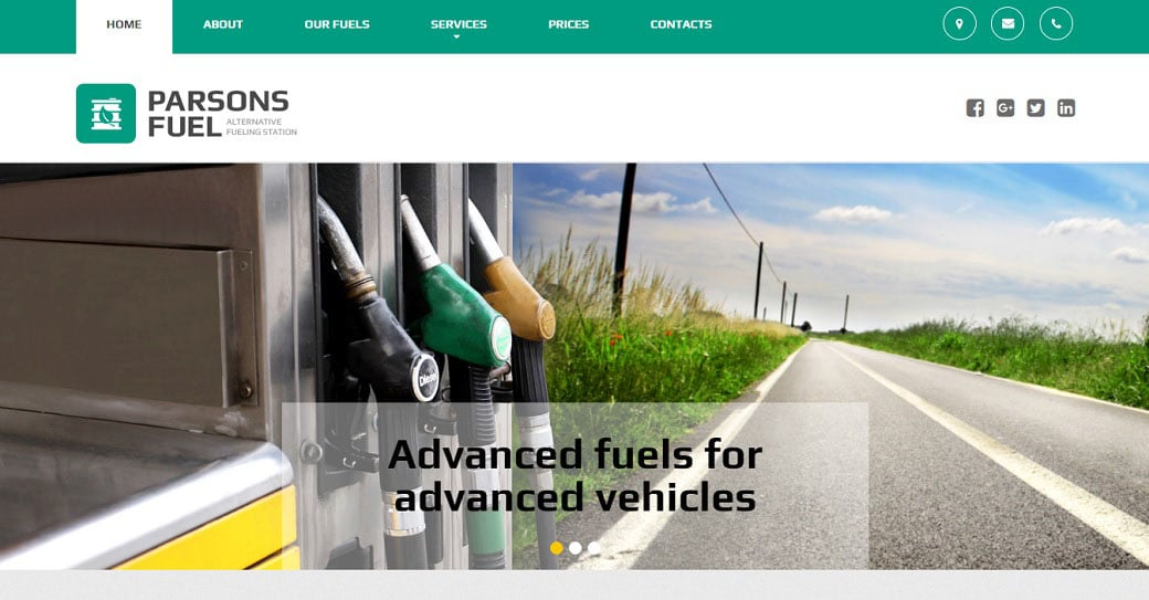 Parsons Fuel Industrial Website Design