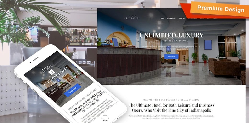 Resortex - Best Hotel Website Design