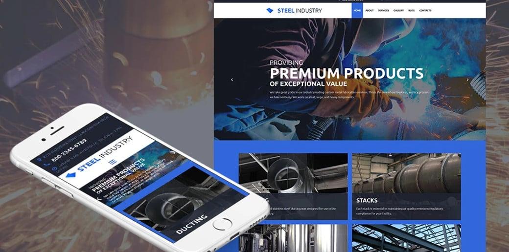 Steel Industry Responsive Website Template
