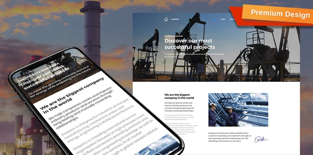 Gastpero Oil and Gas Company Website Template