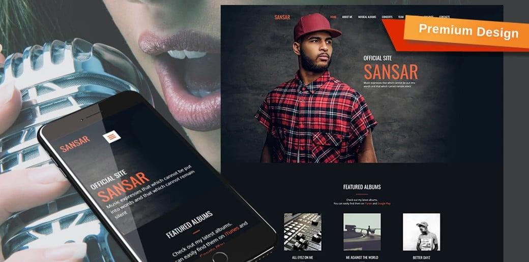 Sansar - Music Artist Website Template