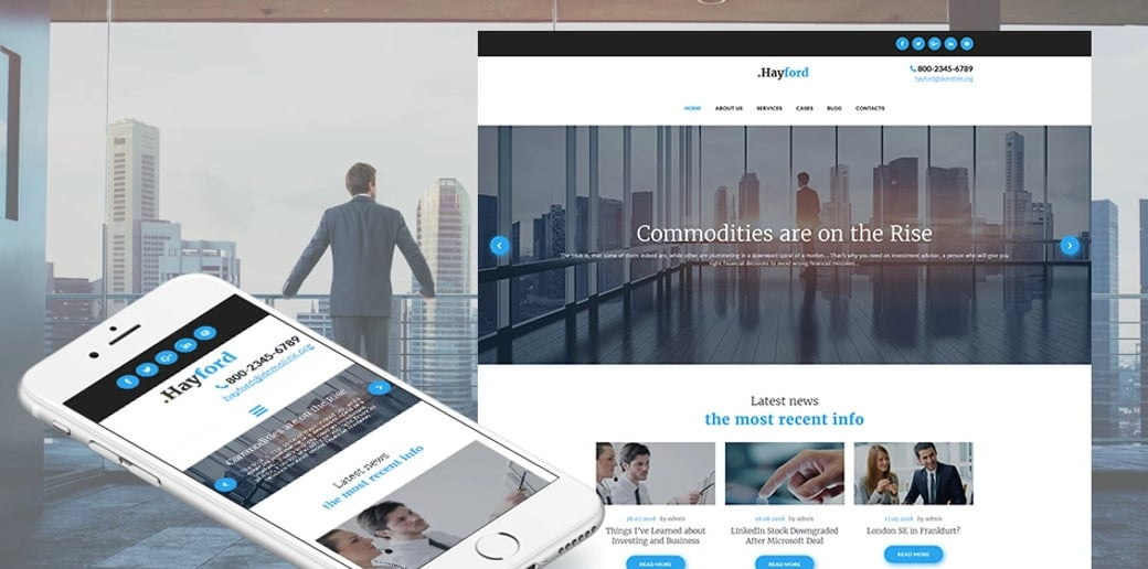 Investment Consulting Services Company Moto CMS 3 Template