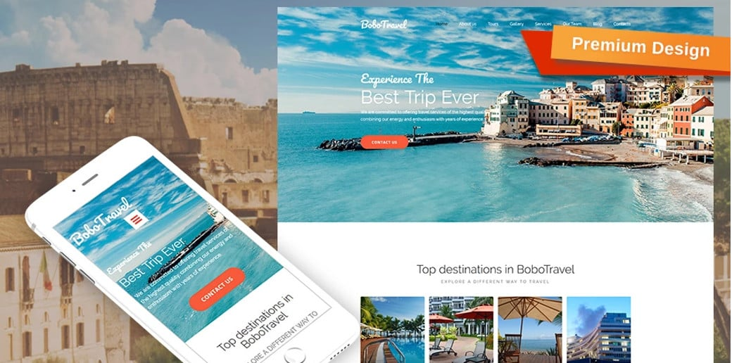 Bobo Travel Responsive Website Template
