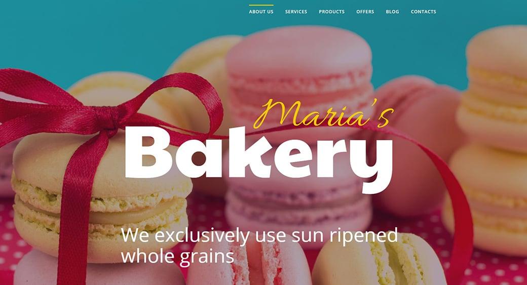 bakery feminine blogger templates