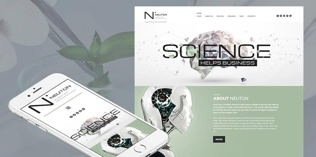 Neuton Responsive Website Template