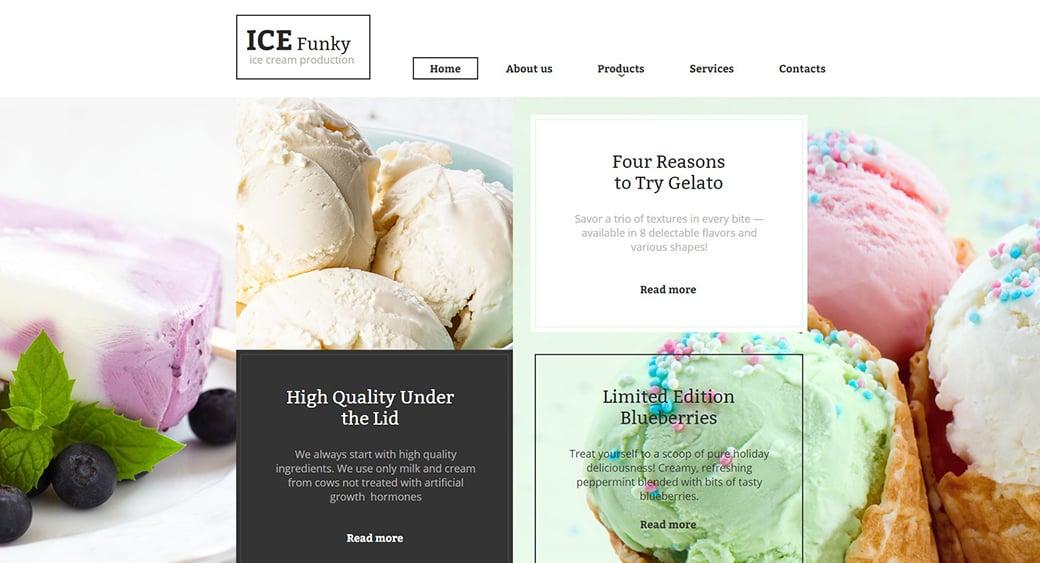 icecream feminine blogger templates