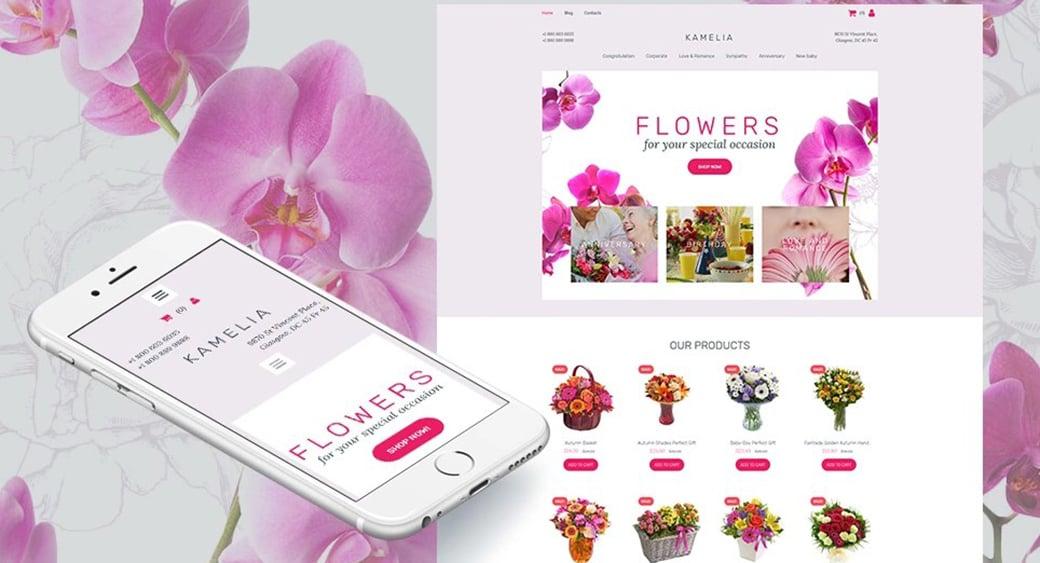 florist feminine blogger templates