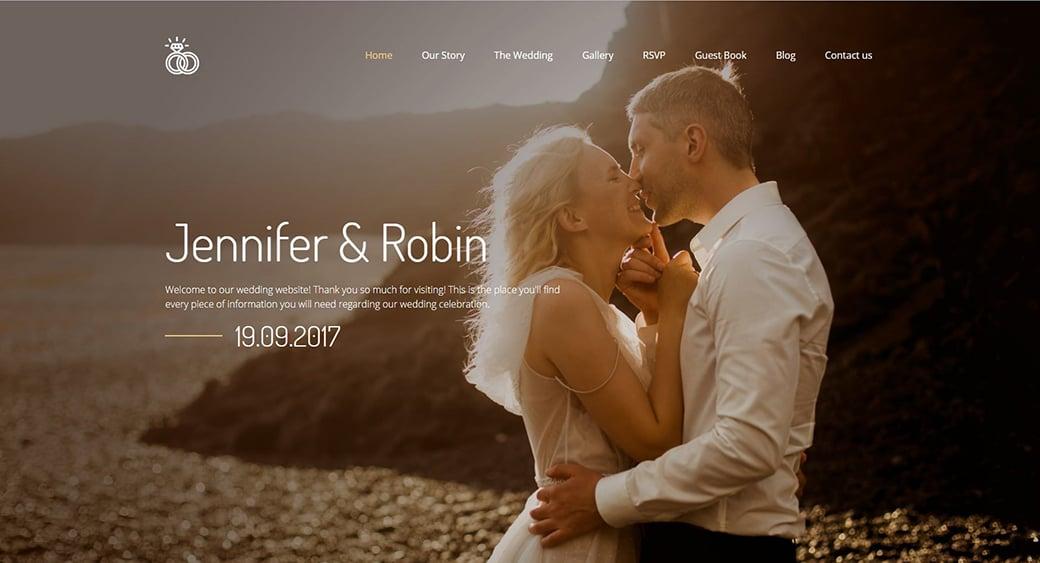 wedding feminine website themes