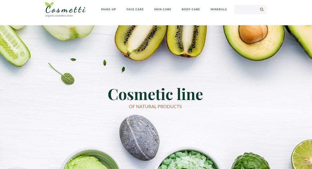 cosmetics feminine themes