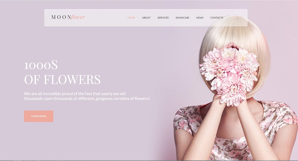 floral female design template