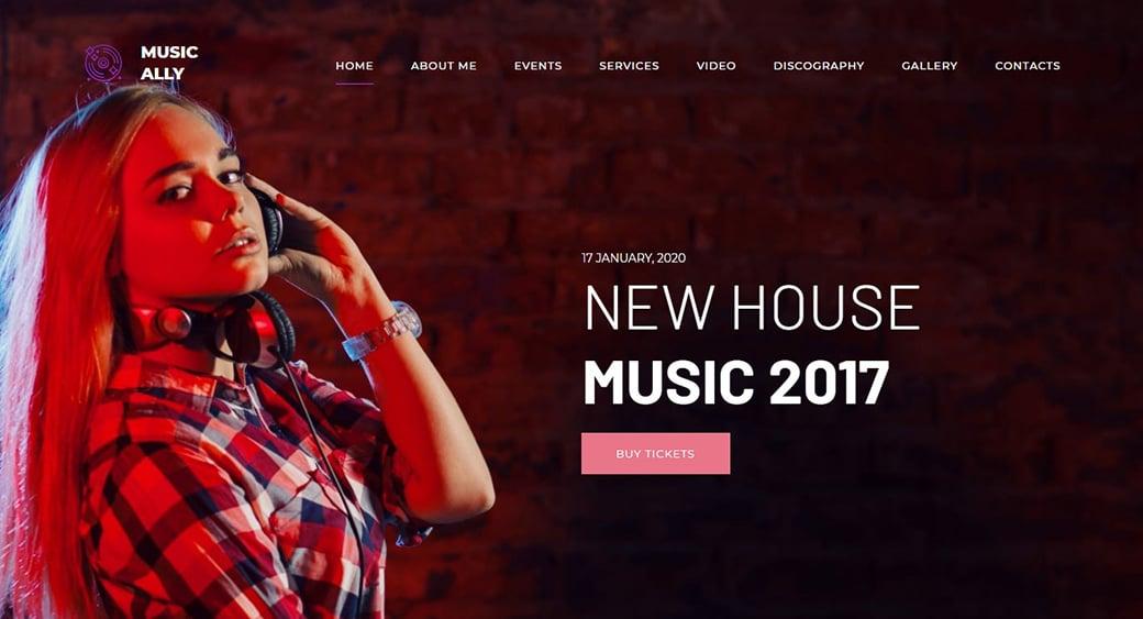 radio dj feminine website themes