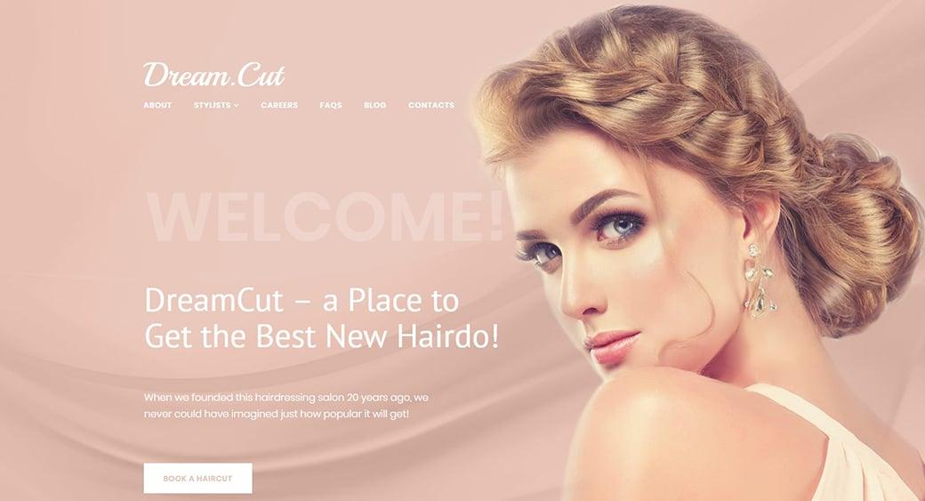feminine website themes for hair stylist