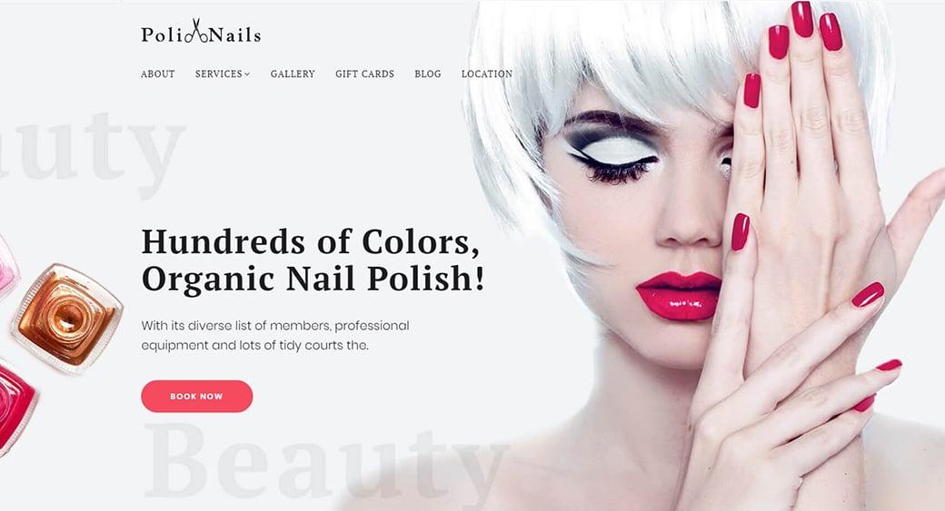 feminine website templates for nail salon
