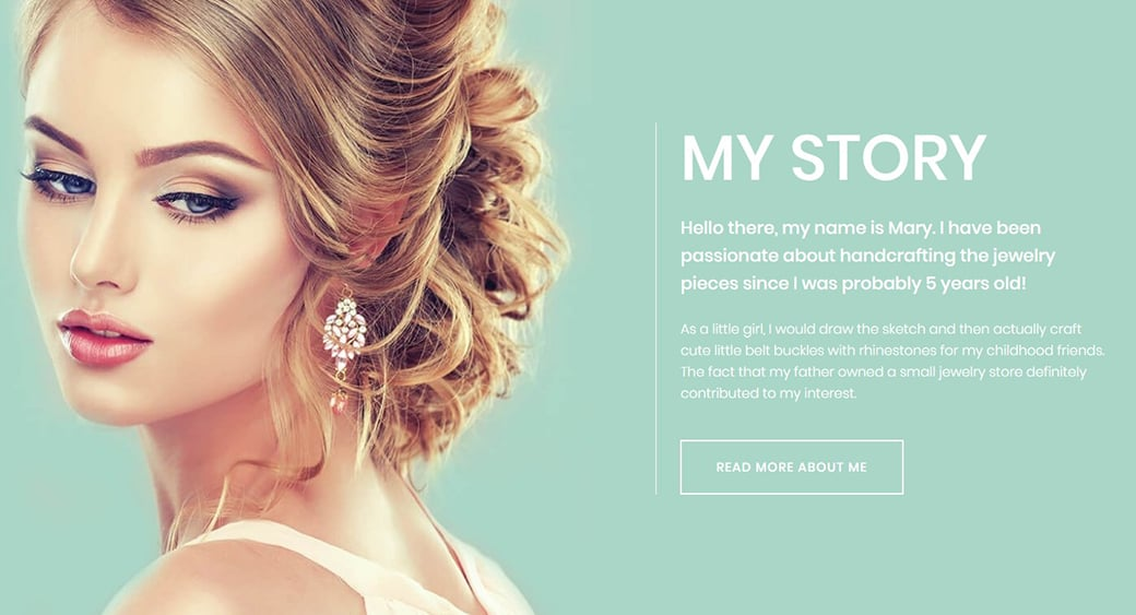 feminine website templates for crafts shop