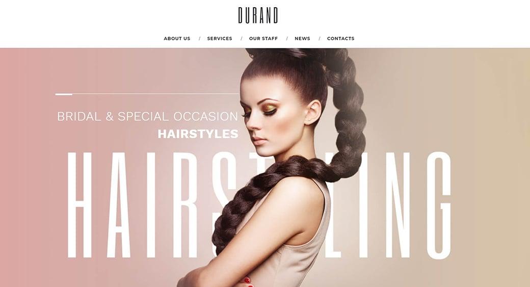 feminine website templates for hair salon