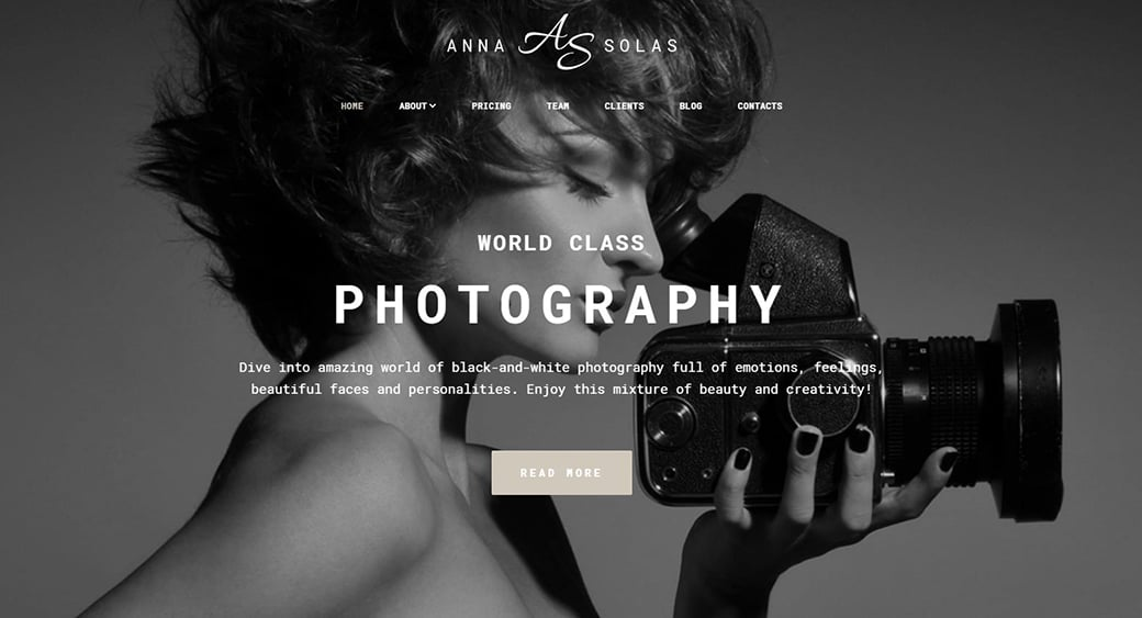 beautiful women blog for photographer or videographer