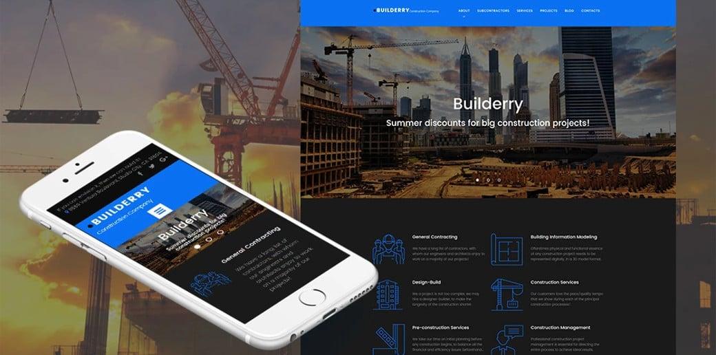 Builderry Responsive Website template