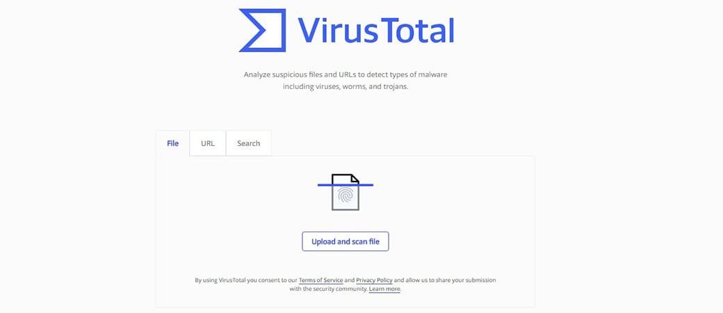 website virus scanner VirusTotal