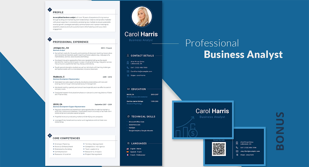 business Resume Templates in Word Format image