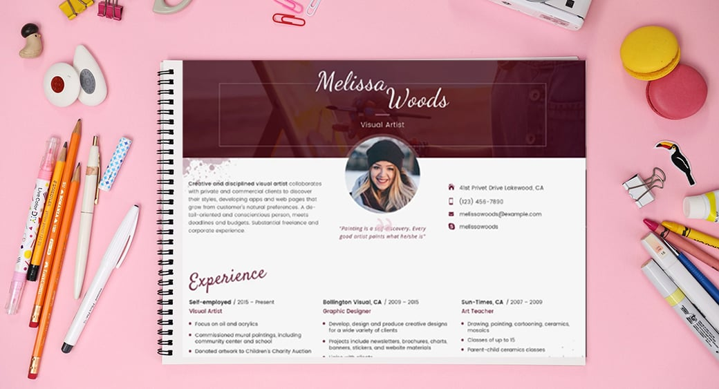Resume Templates in Word Format main image