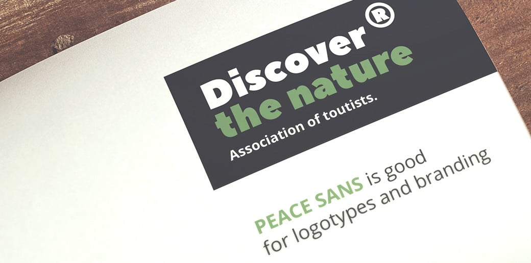 bold typography image Peace Sans Bold Typography