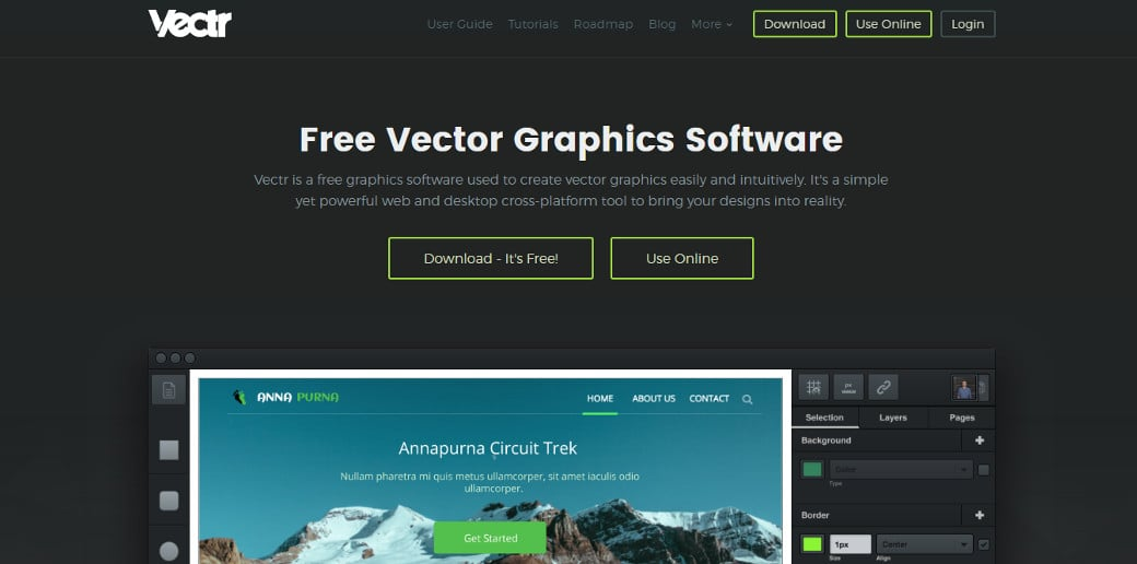 vectr создание прототипа сайта онлайн