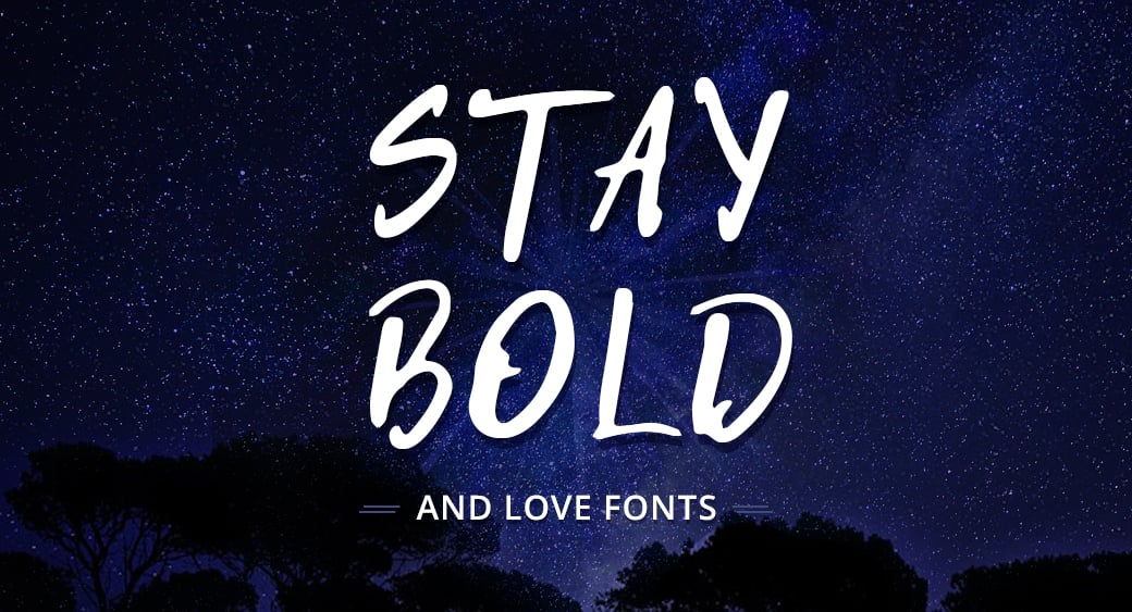 bold typography main image