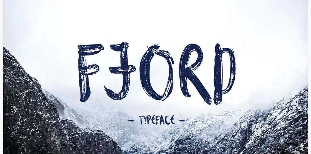 bold typography image Fjord Brush Font